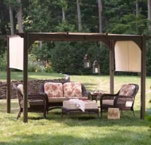 Martha Stewart Everyday Lawrence Pergola Replacement Cushions
